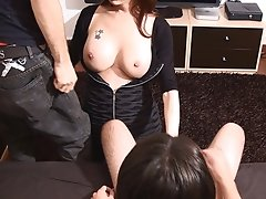 Hung shemale in hardcore Bisexual Sex