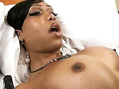 Ebony tranny Jade having her birthday fun