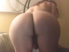 Wendy does a quicky! Jerking her thick, throbbing dick until it explodes with hot tranny juice!