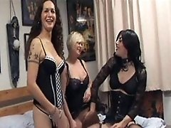 A horny blonde slut gets fucked hard by Zoe her and TGirl partner
