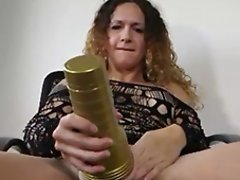 Nicole Montero Pleasures Herself with Her Cum Wanker Toy!