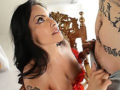 Amazing Foxxy fucked deep throat
