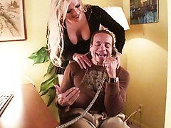 Tranny Jesse Masturbating Maui's Cock With Her Feet