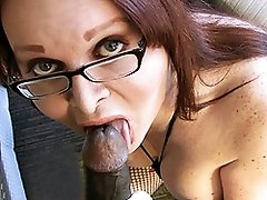 Naughty Wendy sucking a big black cock